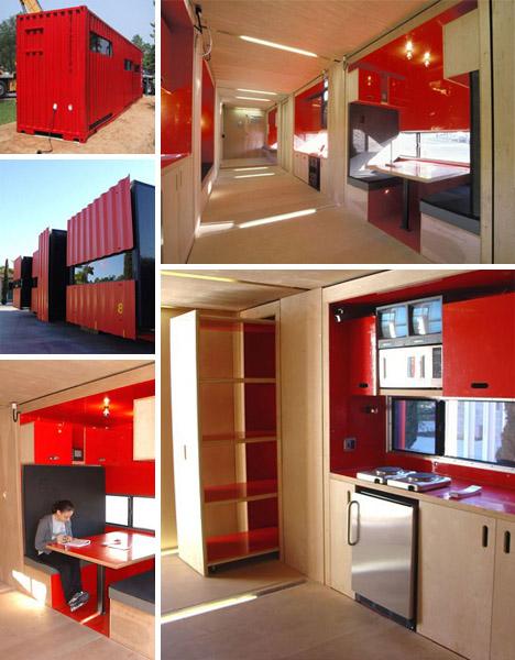 cargo container home interiors