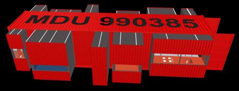 cargo container home plan