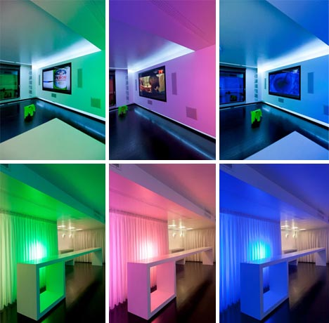 Colorful Interior Lighting Design   Light Design For Home Interiors