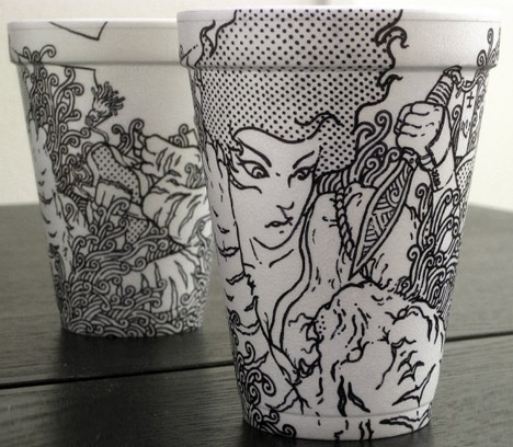 15 Hot Cups Of Art Magic Markers On Coffee Cup Canvas Designs