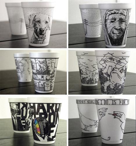 creative cup drawings