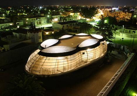 futuristic nurbs house