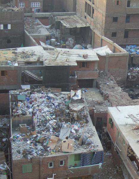garbage city aerial
