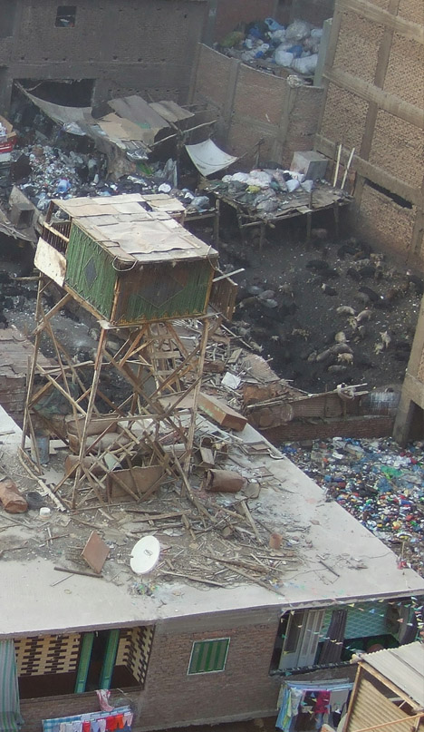 garbage city cairo close up