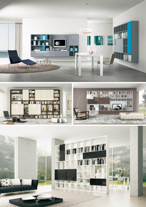 space making: 7 living room storage furniture layouts Living Storage Ideas