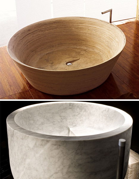 luxury stone deep bathtubs
