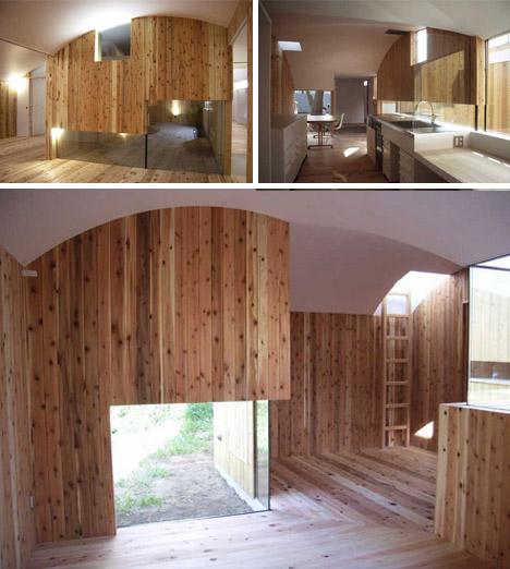 modern wood white home interior