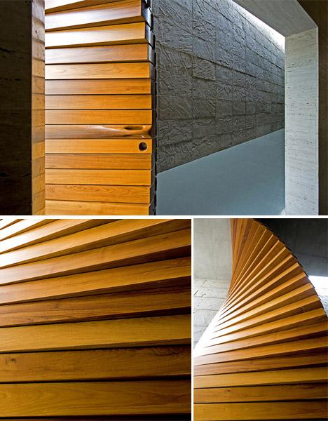 modular wood curtain door 1