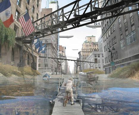 post apocalyptic city landscape