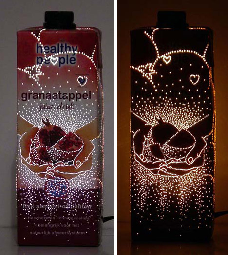 recycled upcycled lamps
