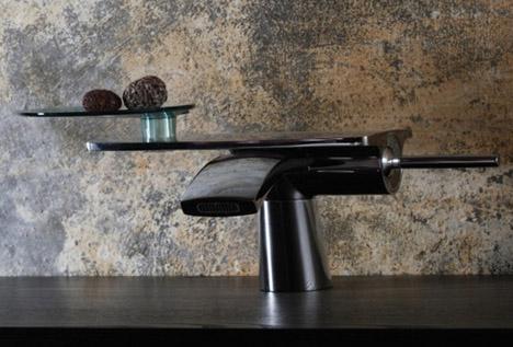 retro futuristic faucet design