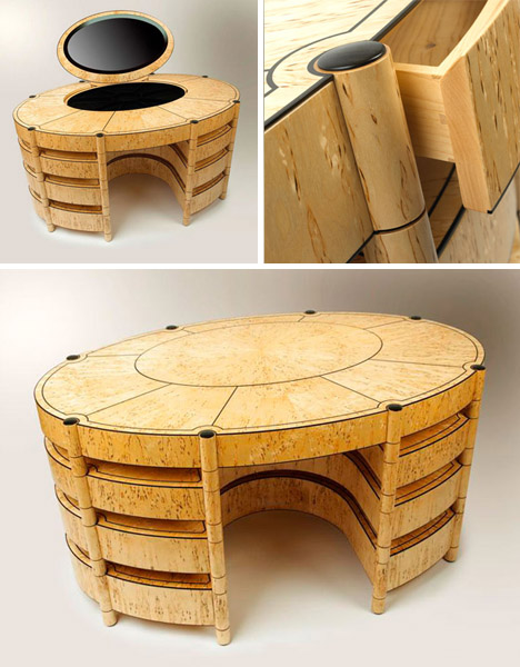 sculptured wood dresser