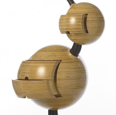 sculptured wood furniture detail