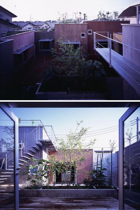 secret green roof courtyard