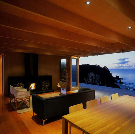 see through beach house interior