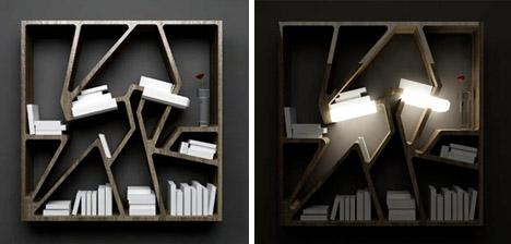 timeless futuristic bookcase