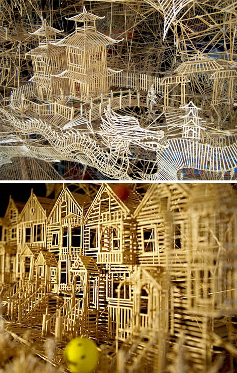 toothpick model city 3