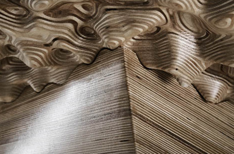 topographic 3d CNC wood table