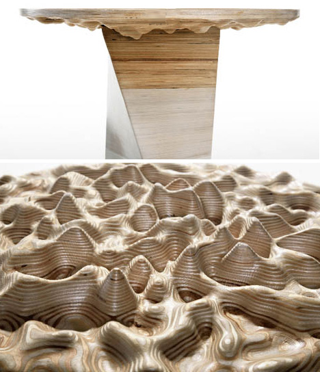 DIY Work Of CNC Art D Topographic Wood Table Project - Topographic coffee table