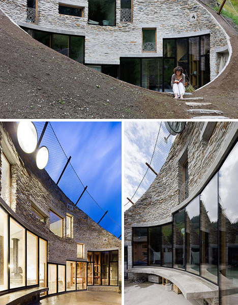 Swiss Mountain House outside in: ultimate underground swiss mountain home