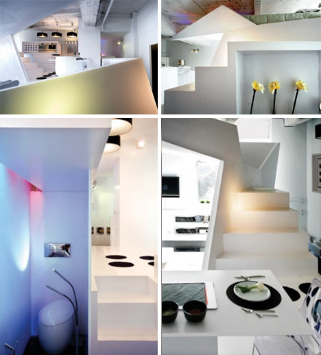 black white interior design photos