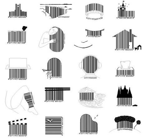 designer creative barcode ideas