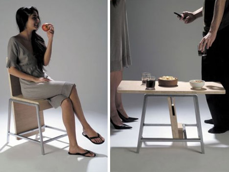 Fold Up Home Furniture: Flip Flop Table Turns Into A Chair