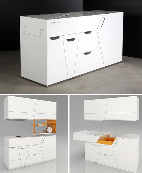 Kitchen in a box all in one island cabinet sink design for All in one kitchen cabinets