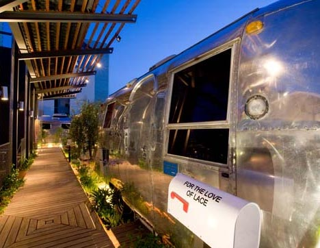 metal sleek and streamlined like a space ship airstream trailers are ...