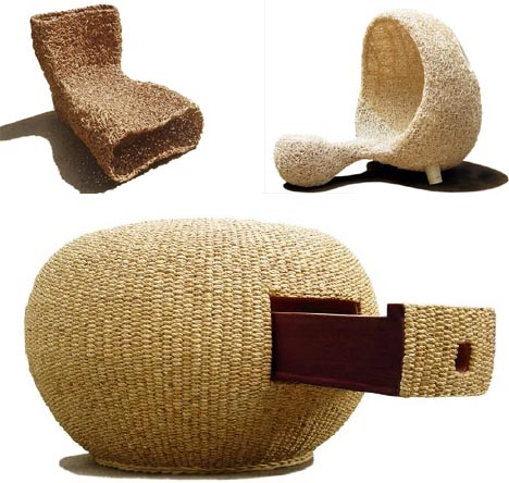 natural woven wicker wood chairs