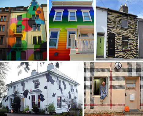 Cool Colors: 10 Crazy Painted Houses & Home Painting Ideas