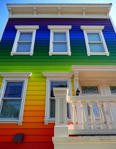 Colors To Paint A House cool colors: 10 crazy painted houses & home painting ideas