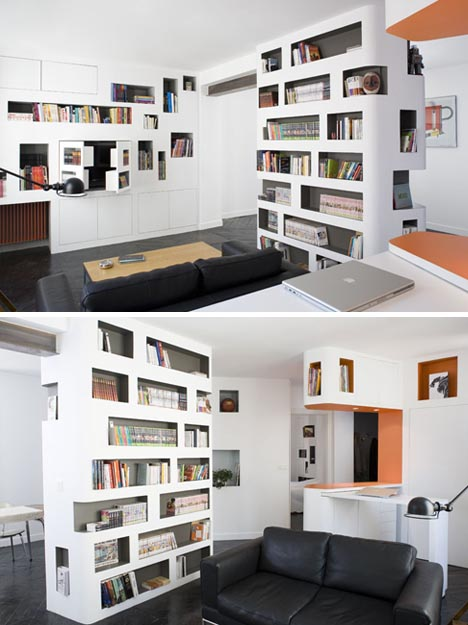 Library Loft Condo 100 Built In Wall Cabinets