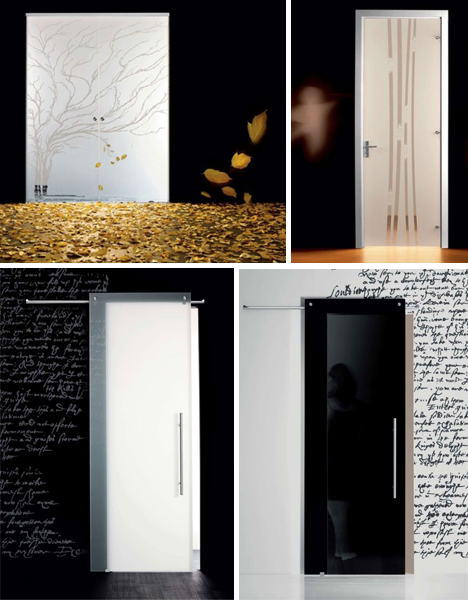15 Fantastic Full-Glass, Frosted & Frameless Interior Doors