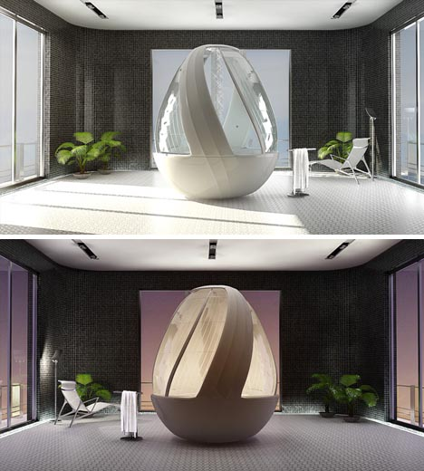 Futuristic Home Design Ideas: Futuristic Home Shower Fixtures: Spa Luxury, Sci-Fi Style