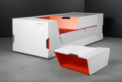 lounge in a box: modular living room furniture collection