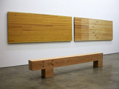 Wonders: Reclaimed Wood Furniture Cut Out of Old Bowling Lanes