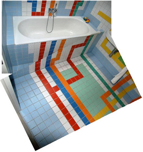 Subway Bathroom Tile A Mazing 3d Floor Amp Wall Mosaic