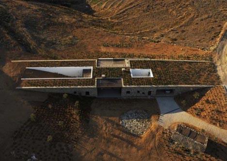 underground living buried secrets of a stone desert home. Black Bedroom Furniture Sets. Home Design Ideas
