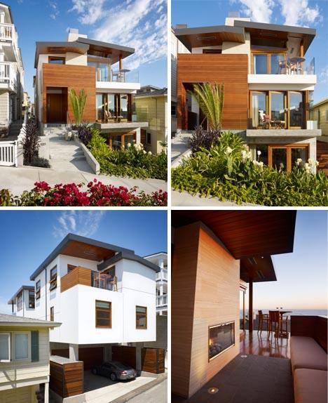 Tropical Beach House Interior: Huge Tropical House: Super-Small Lot + Big Beach Home