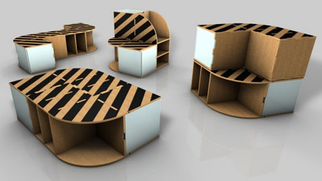 Free delivery flat pack modular pizza box furniture kit the desk can solutioingenieria Image collections