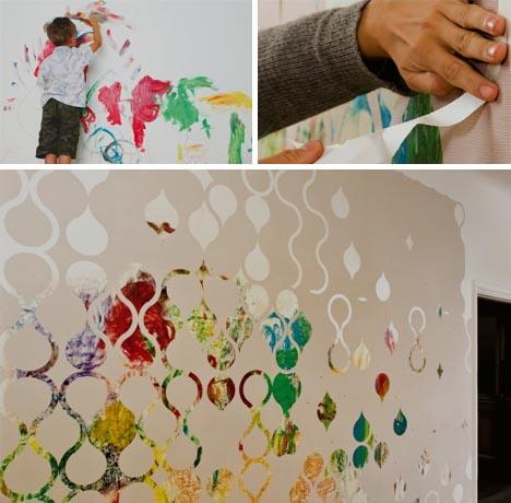 DIY Custom Wallpaper in Reverse | Designs & Ideas on Dornob