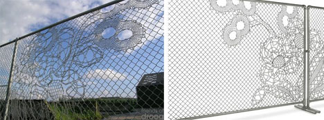 Fantastic Fencing! Decorative Wire Mesh \'Lace Fence\' Design