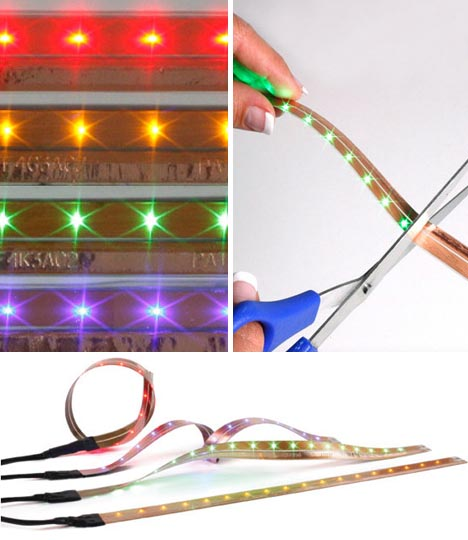 Flexible Led Light Strips For Diy Red Blue Amp Green