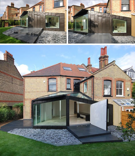 Black, White & Brick: Victorian Home + Modern Deck Design