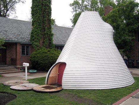 & Suburban Nomad: Hybrid Igloo Yurt Tent + Tipi Home Idea