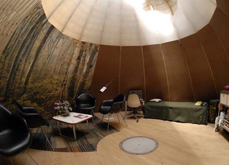 Suburban Nomad: Hybrid Igloo, Yurt, Tent + Tipi Home Idea