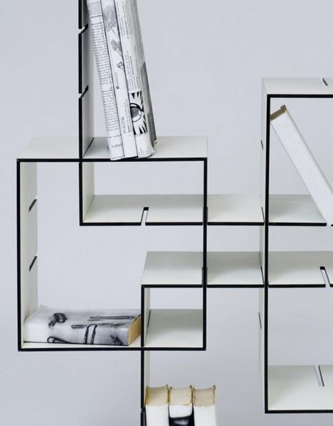 Modern Modular Shelving modern, mobile, modular: diy slot & slide shelves system