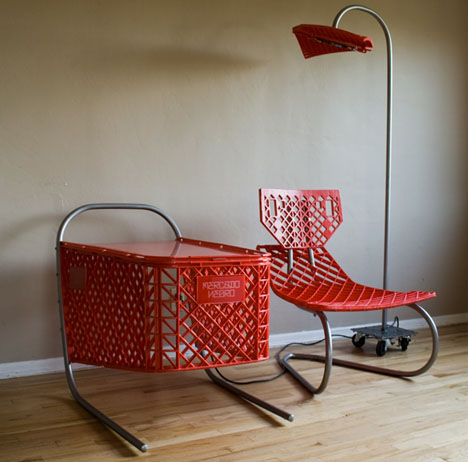 Recycled Shopping Carts: 3 Piece Living Room Furniture Set
