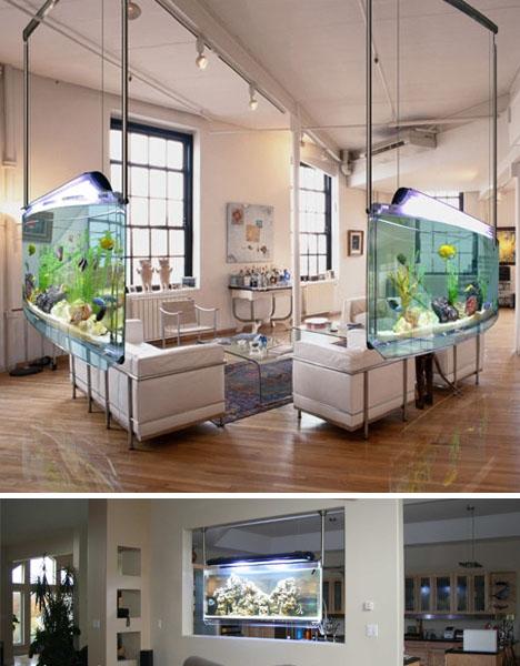 Perfect Awesome Aquariums: 5 Cool Modern Fish Tank Designs